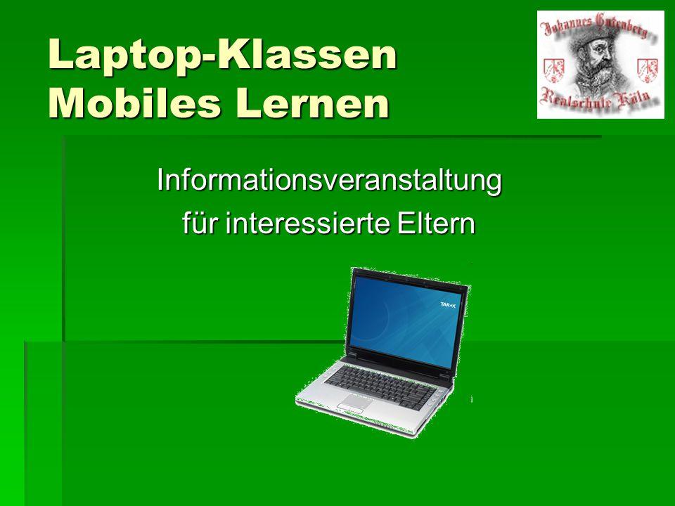 Projekt  Pilotprojekt Laptopklassen an Kölner Schulen seit 2008  3 Schulen in Köln starteten dieses Projekt  8.