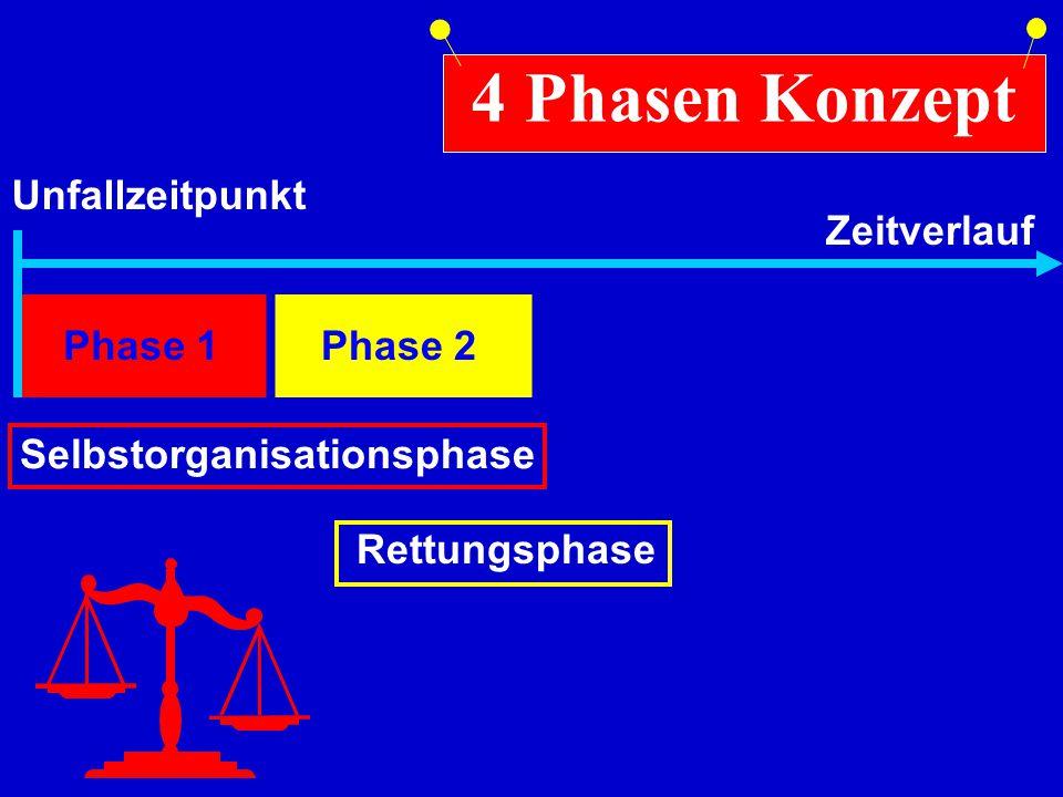 Phase 1 Selbstorganisationsphase 4 Phasen Konzept Unfallzeitpunkt ZeitverlaufRettungsphase Phase 2
