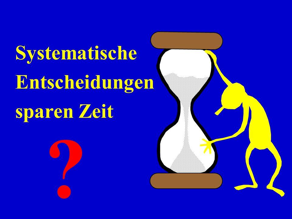 Systematische Entscheidungen sparen Zeit ?