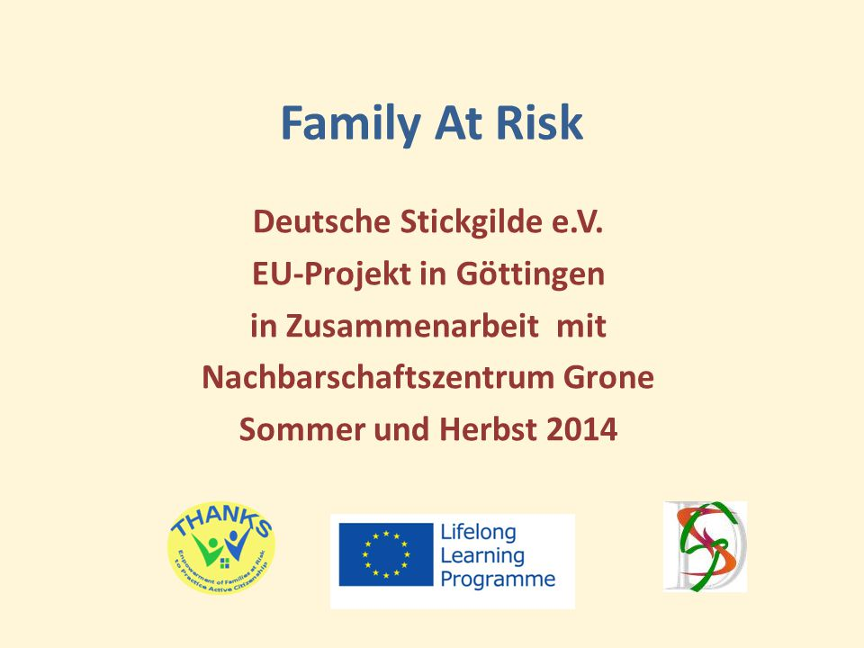 Family At Risk Deutsche Stickgilde e.V.
