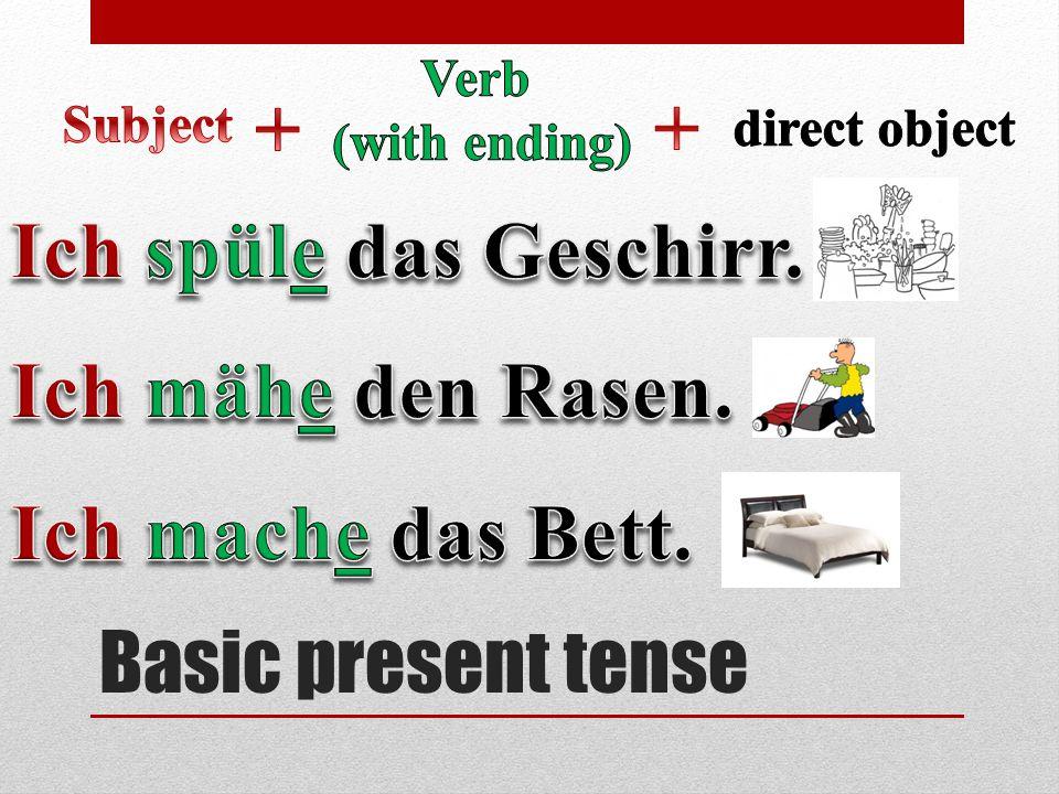 Basic present tense