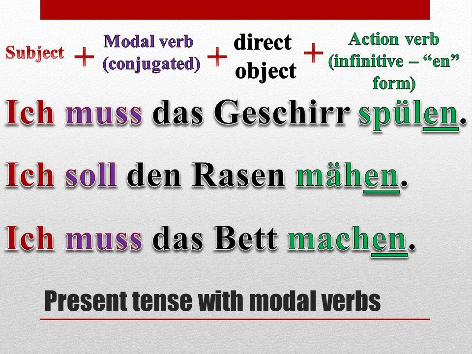 Present tense with modal verbs