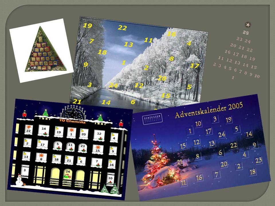 Sankt Nikolaus bringt deutschen Kindern am 6.Dezember kleine Geschenke.