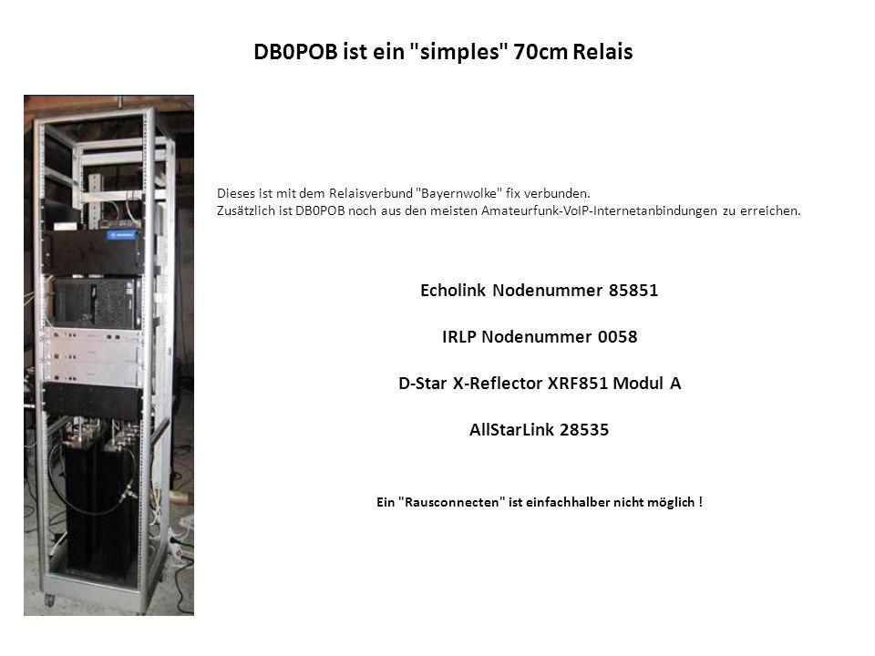 ast28175ast2397ast2398ast2397 DB0POB 439,075 MHz DB0FOX 439,3625 MHz DB0VOX 439,250 MHz DB0ZM 145,750 MHz Bayernwolke Auf der folgenden Folien steht DB0VOX stellvertretend für die Bayernwolke.