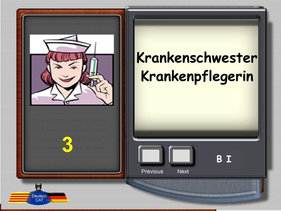 Krankenschwester Krankenpflegerin 3 B I