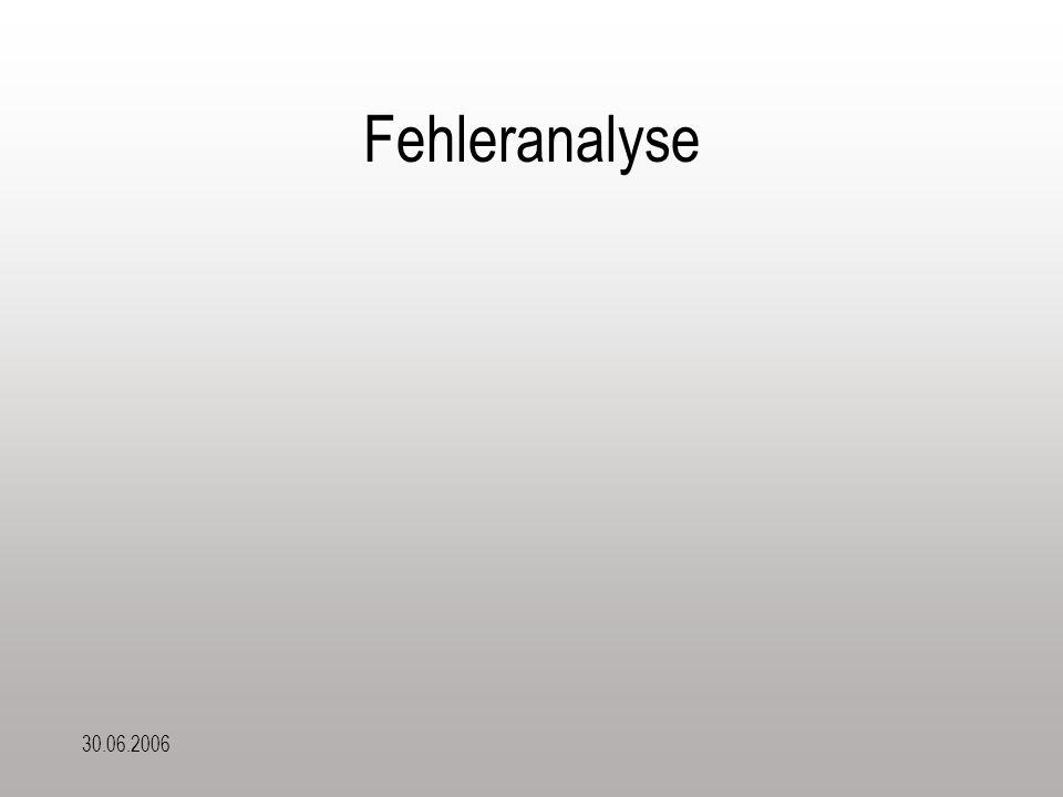 30.06.2006 Fehleranalyse