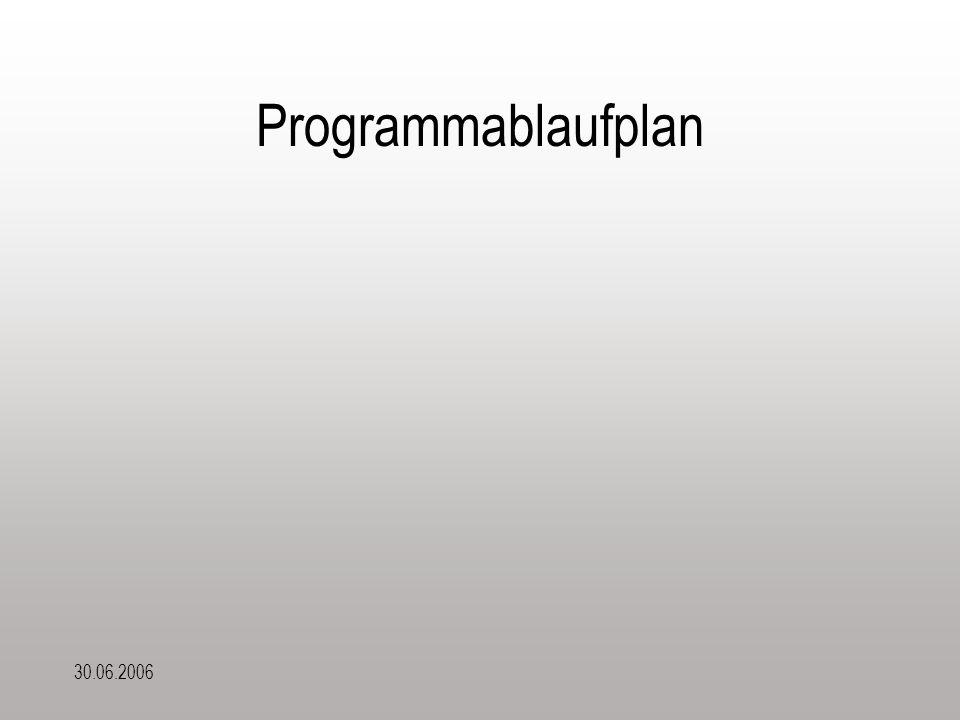 30.06.2006 Programmablaufplan