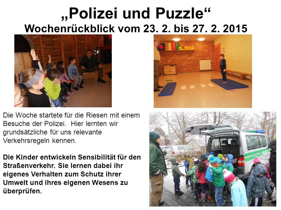 Diese Woche interessierten wir uns sehr für Puzzle.
