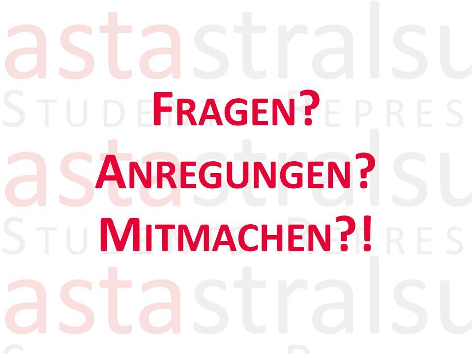 F RAGEN A NREGUNGEN M ITMACHEN !