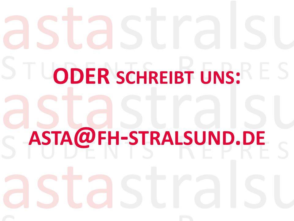 ODER SCHREIBT UNS : ASTA @ FH - STRALSUND. DE