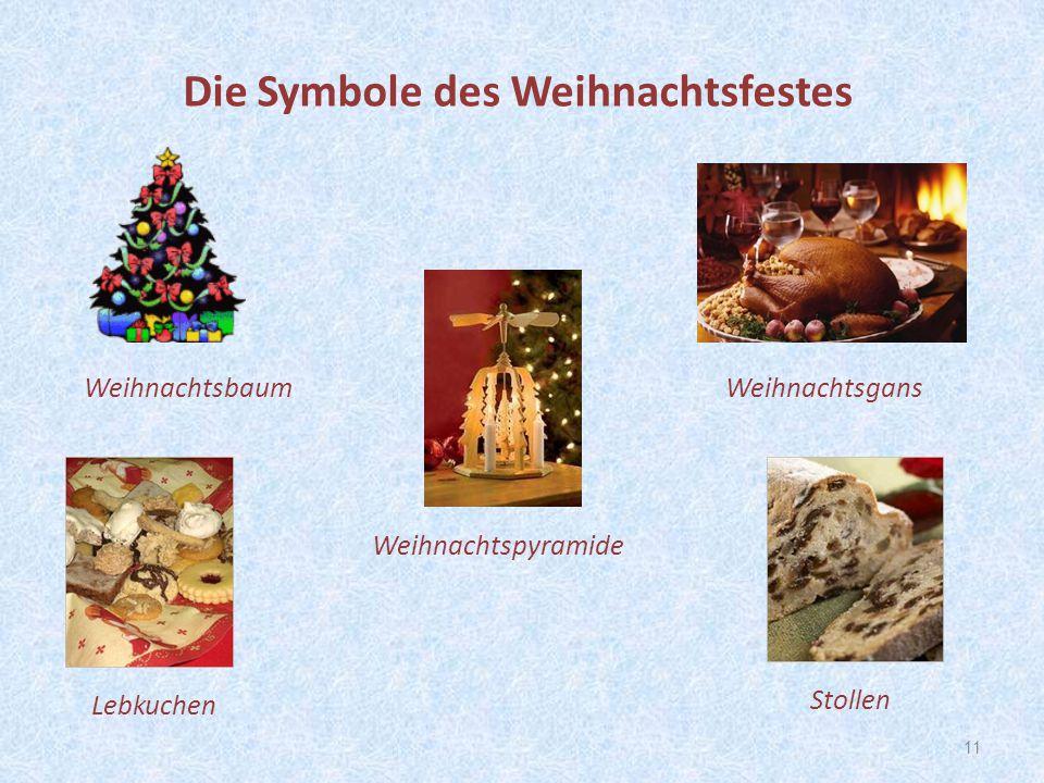 11 Stollen Weihnachtspyramide Die Symbole des Weihnachtsfestes