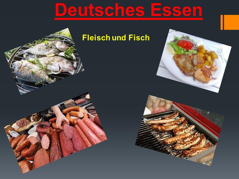 Deutsches Essen Fleisch und Fisch