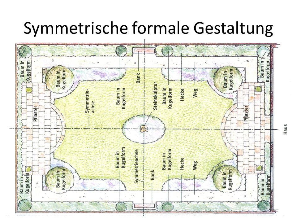 Symmetrische formale Gestaltung