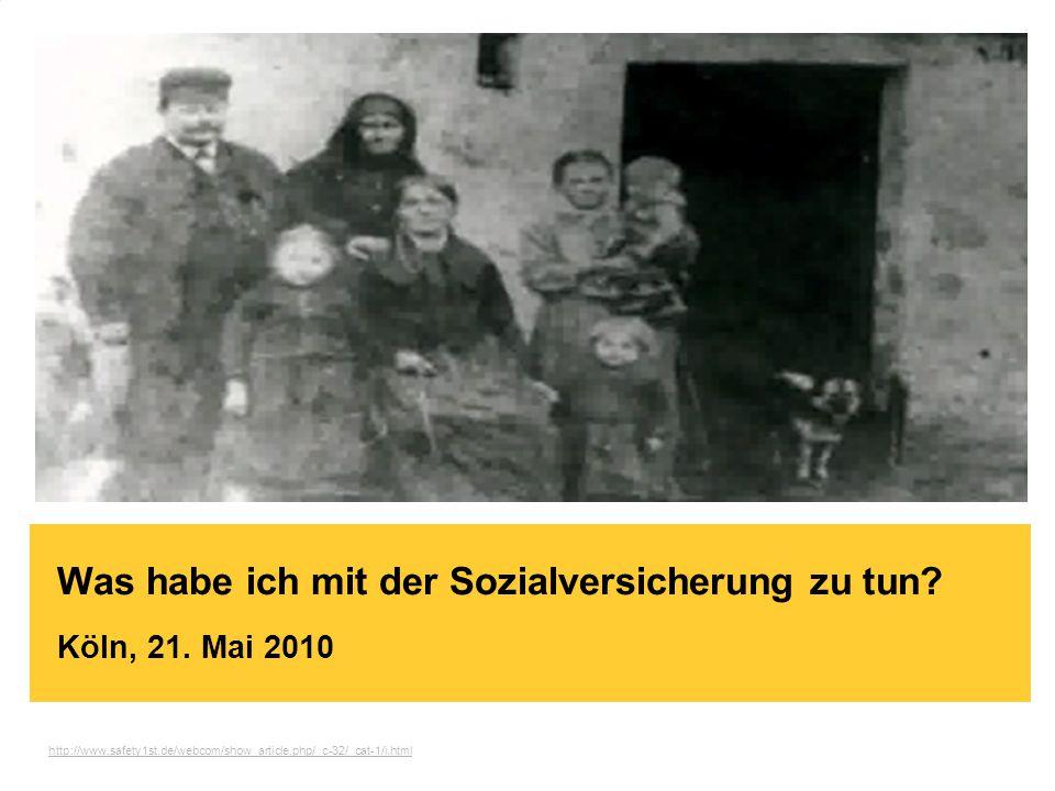Brand-Bam  HG93 - Witschaftsinformatik  Köln / 03.12.2009 Was habe ich mit der Sozialversicherung zu tun.