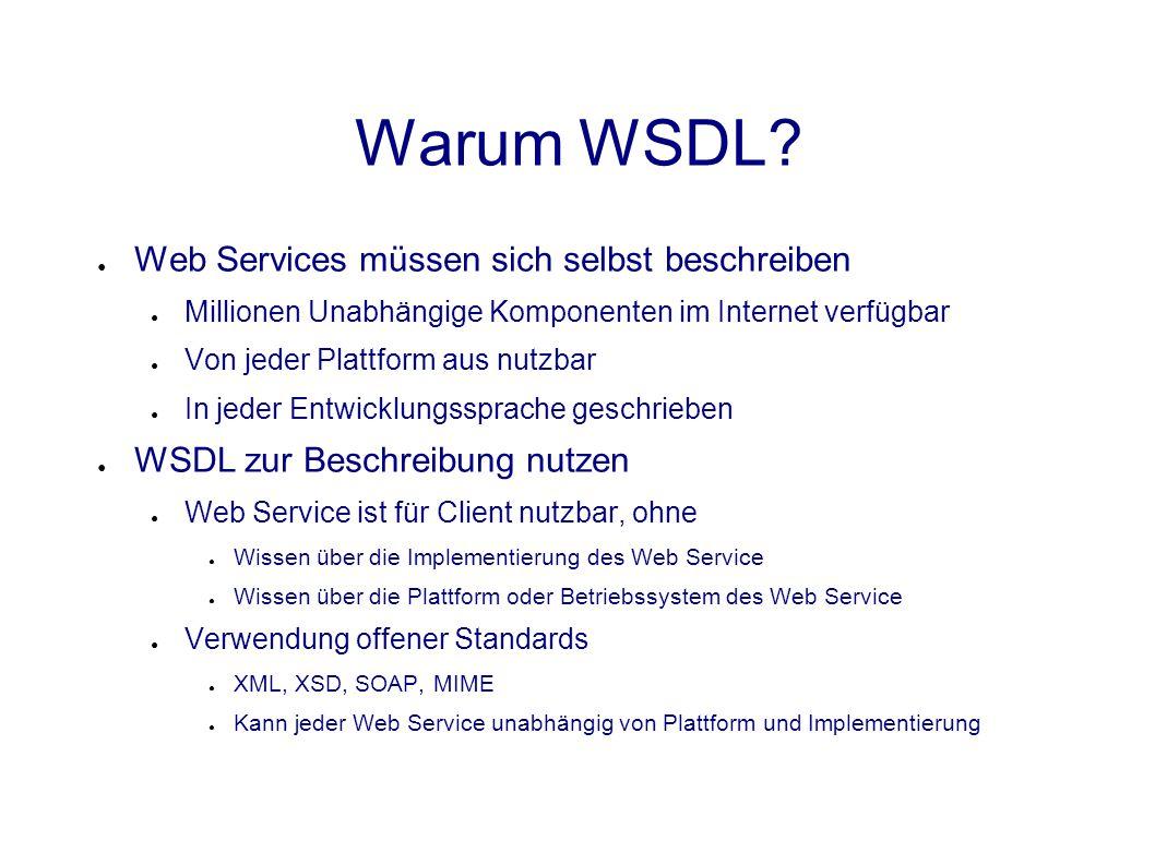 Warum WSDL.