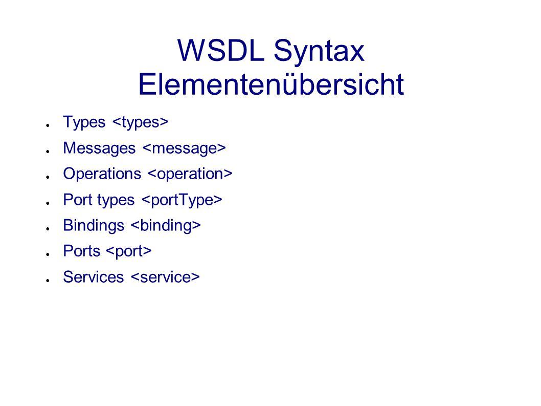 Porttyp-Operation-Message-Typ Struktur