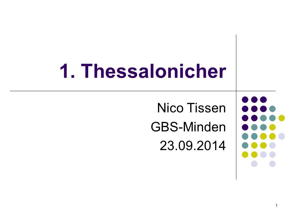 1 1. Thessalonicher Nico Tissen GBS-Minden 23.09.2014