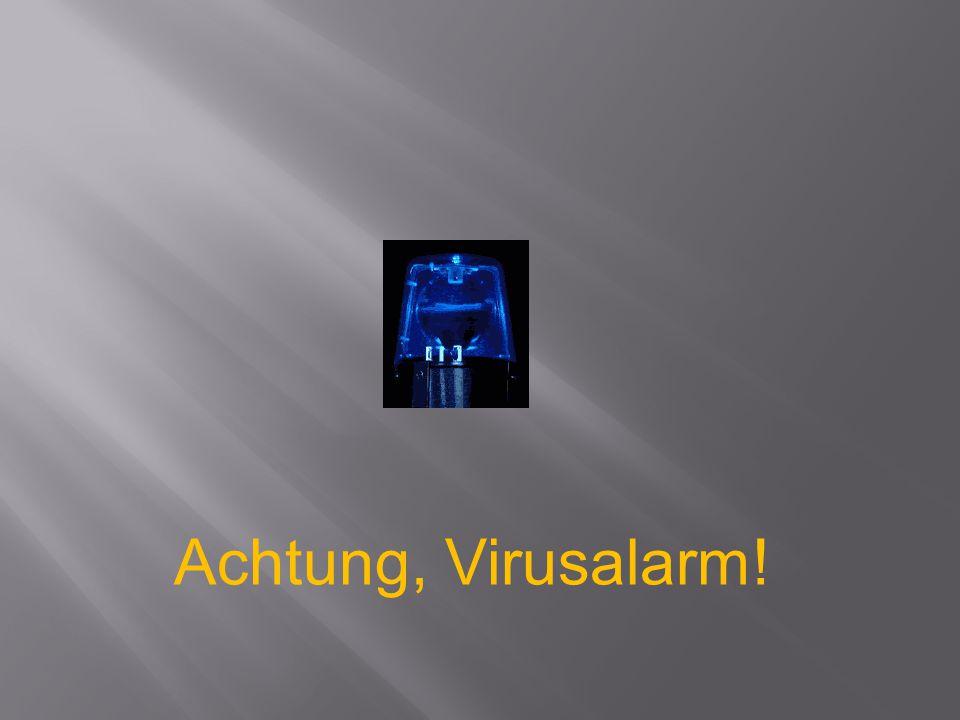 Zur Zeit ist ein bösartiger Computervirus in Umlauf.
