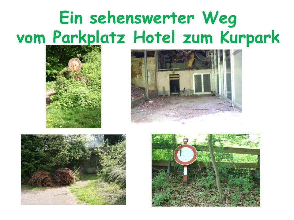 Ein sehenswerter Weg vom Parkplatz Hotel zum Kurpark