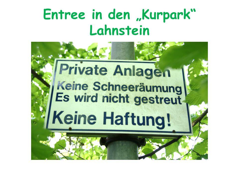 "Entree in den ""Kurpark Lahnstein"