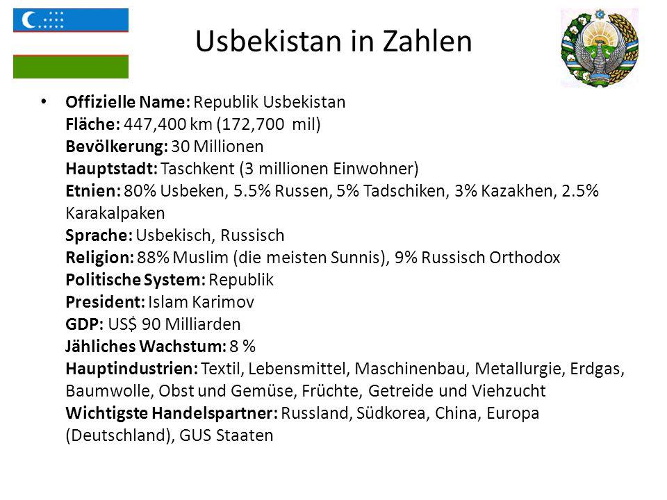 Bildungssystem in Usbekistan Bildungssystem der Republik Usbekistan basiert sich auf das Bildungsgesetz und Nationales Kaderausbildungsprogramm (NPPT) aus dem Jahre 1997.