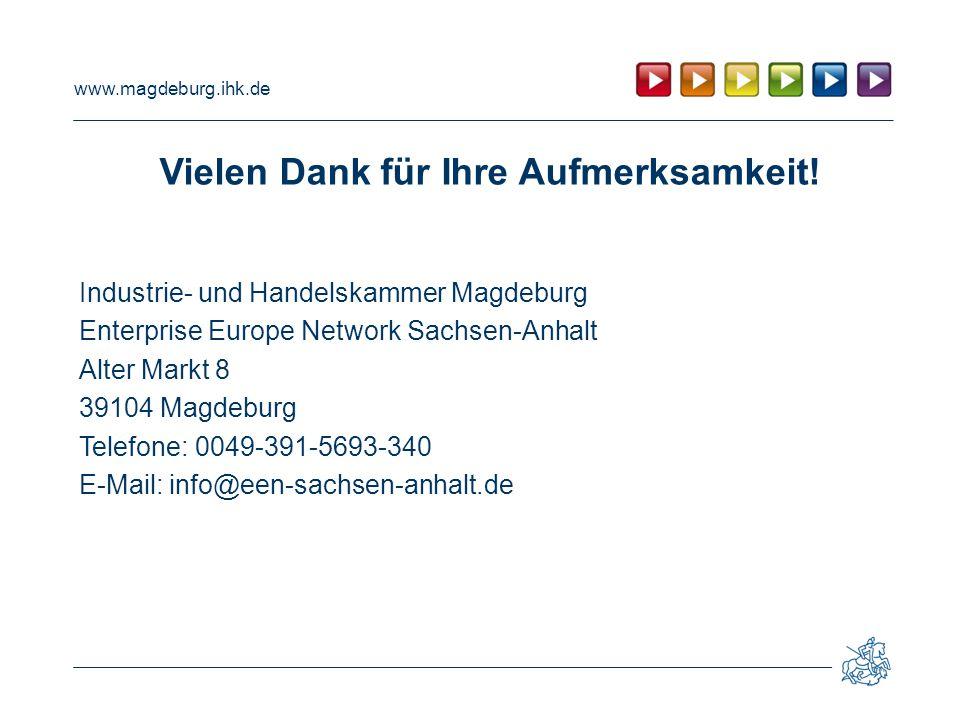 www.magdeburg.ihk.de Vielen Dank für Ihre Aufmerksamkeit.
