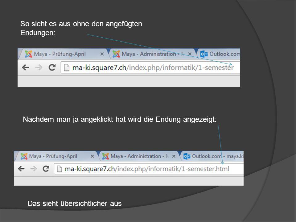 Seitenname auch im Titel Wenn man auf einer Website wird, wird immer ein Titel angezeigt  das ist ein Attribut in html.