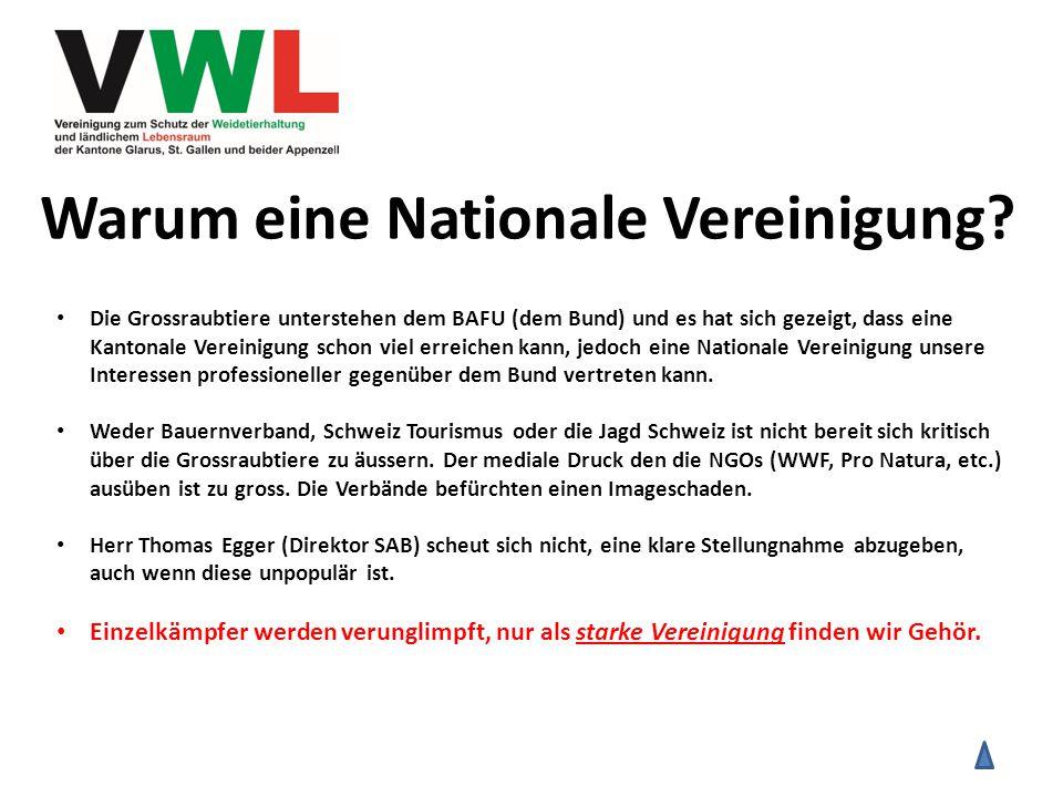 Warum eine Nationale Vereinigung.
