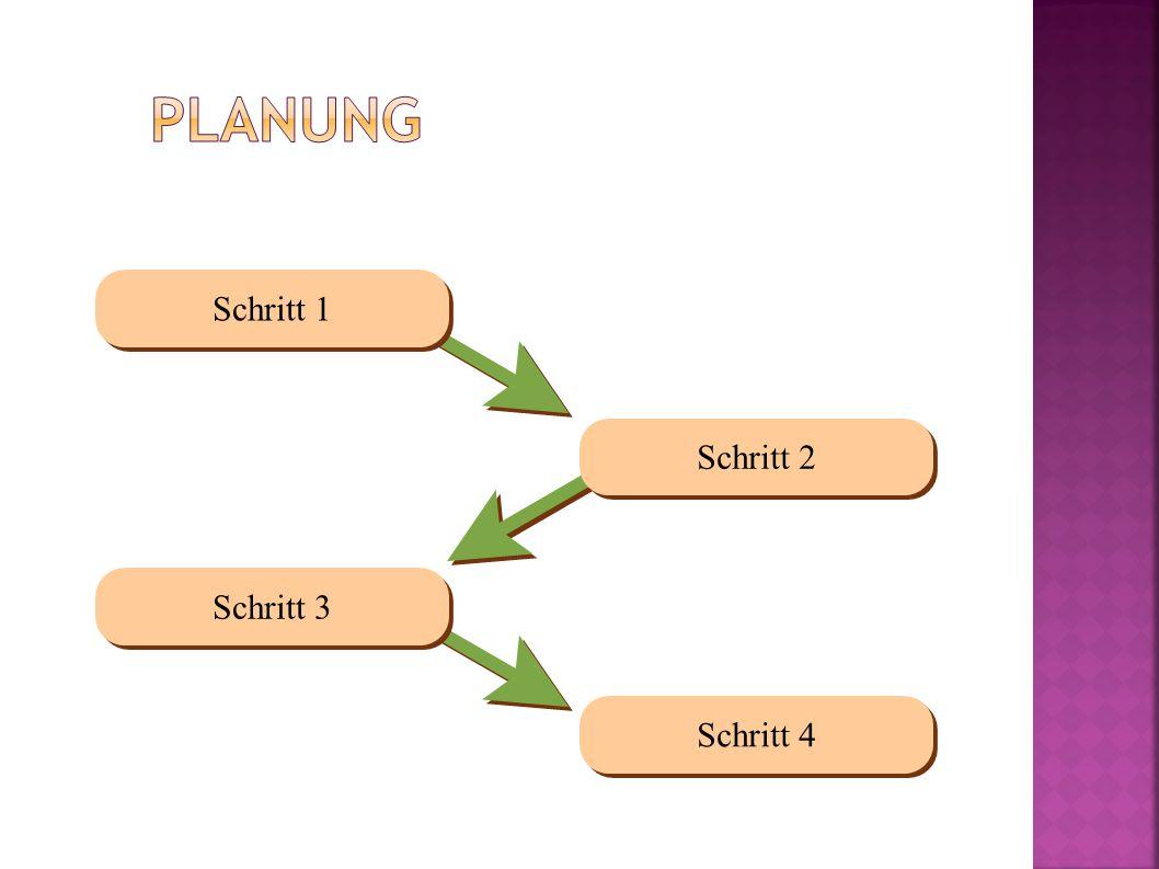 Schritt 1 Schritt 2 Schritt 3 Schritt 4