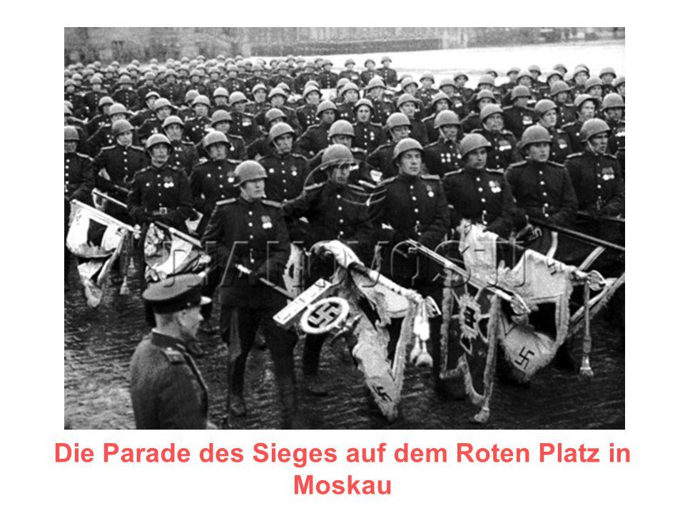Die Parade des Sieges auf dem Roten Platz in Moskau