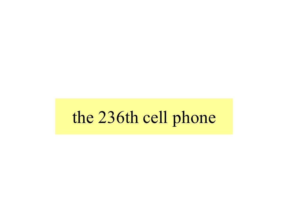 the 236th cell phone