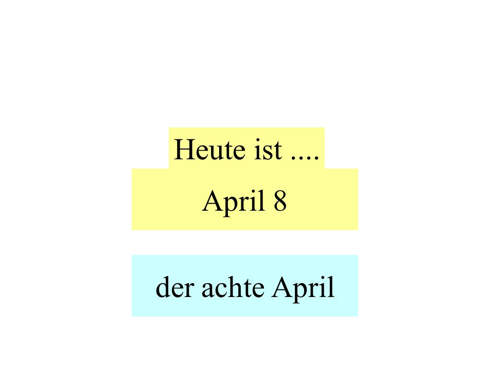 April 8 Heute ist.... der achte April