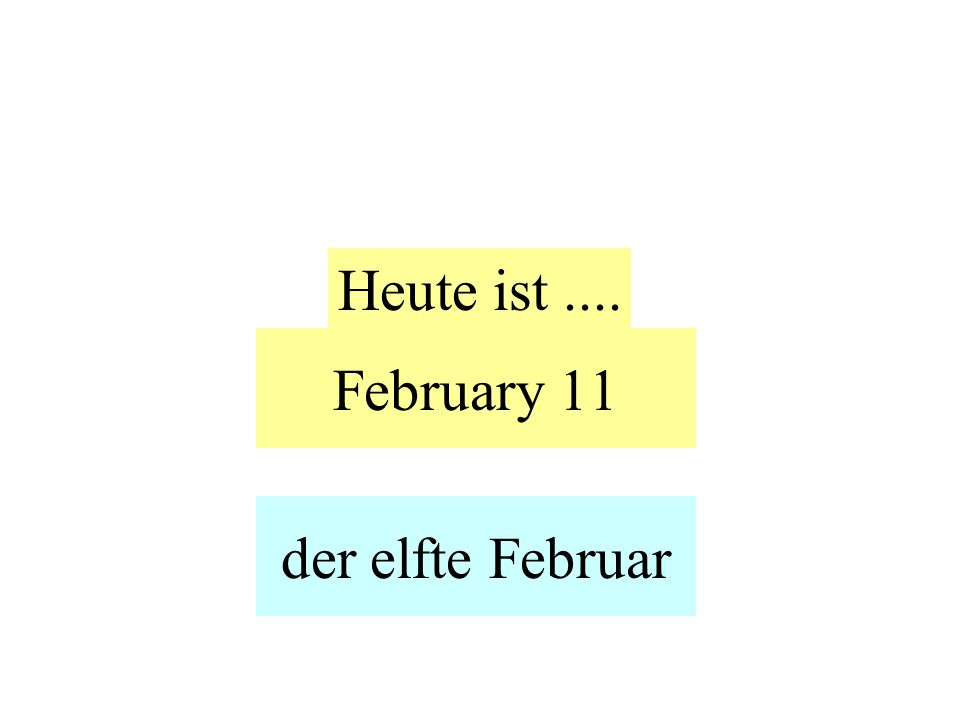 February 11 Heute ist.... der elfte Februar