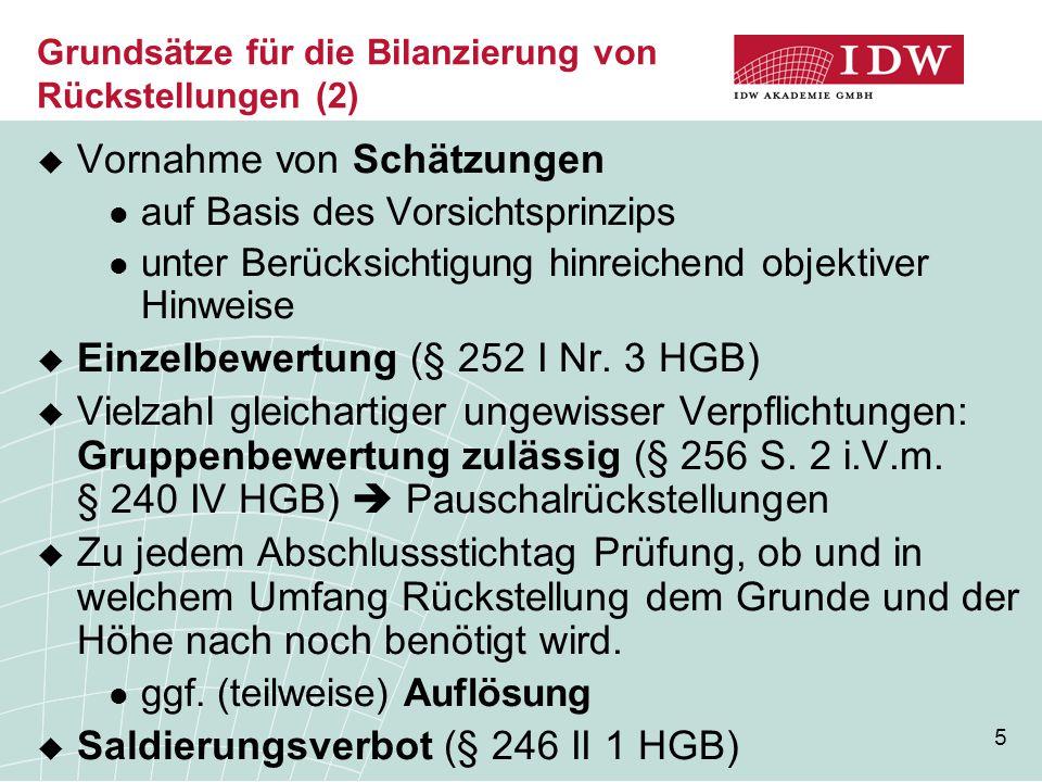 36  Bertram/Kessler, IDW ERS HFA 34: Mehr Sicherheit bei der Bewertung unsicherer Schulden, DB 2012, S.