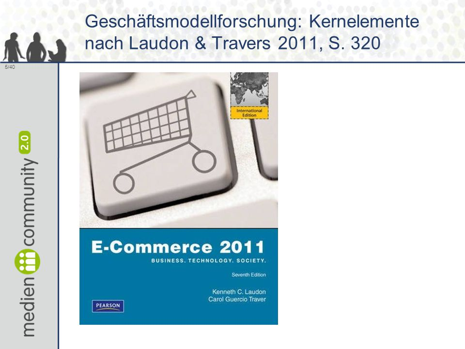 5/40 Geschäftsmodellforschung: Kernelemente nach Laudon & Travers 2011, S. 320