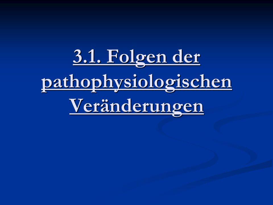 3.1. Folgen der pathophysiologischen Veränderungen