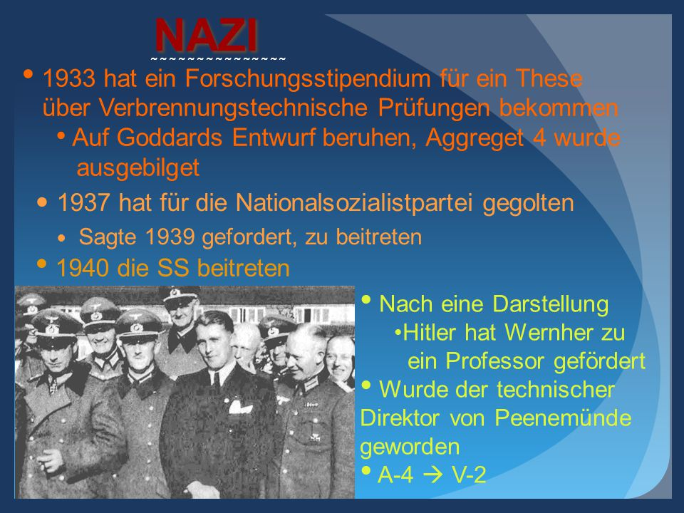NAZI 1937 hat für die Nationalsozialistpartei gegolten Sagte 1939 gefordert, zu beitreten ~~~~~~~~~~~~~~~ 1940 die SS beitreten 1933 hat ein Forschung