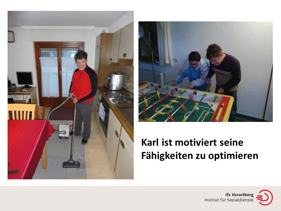 Karl ist motiviert seine Fähigkeiten zu optimieren