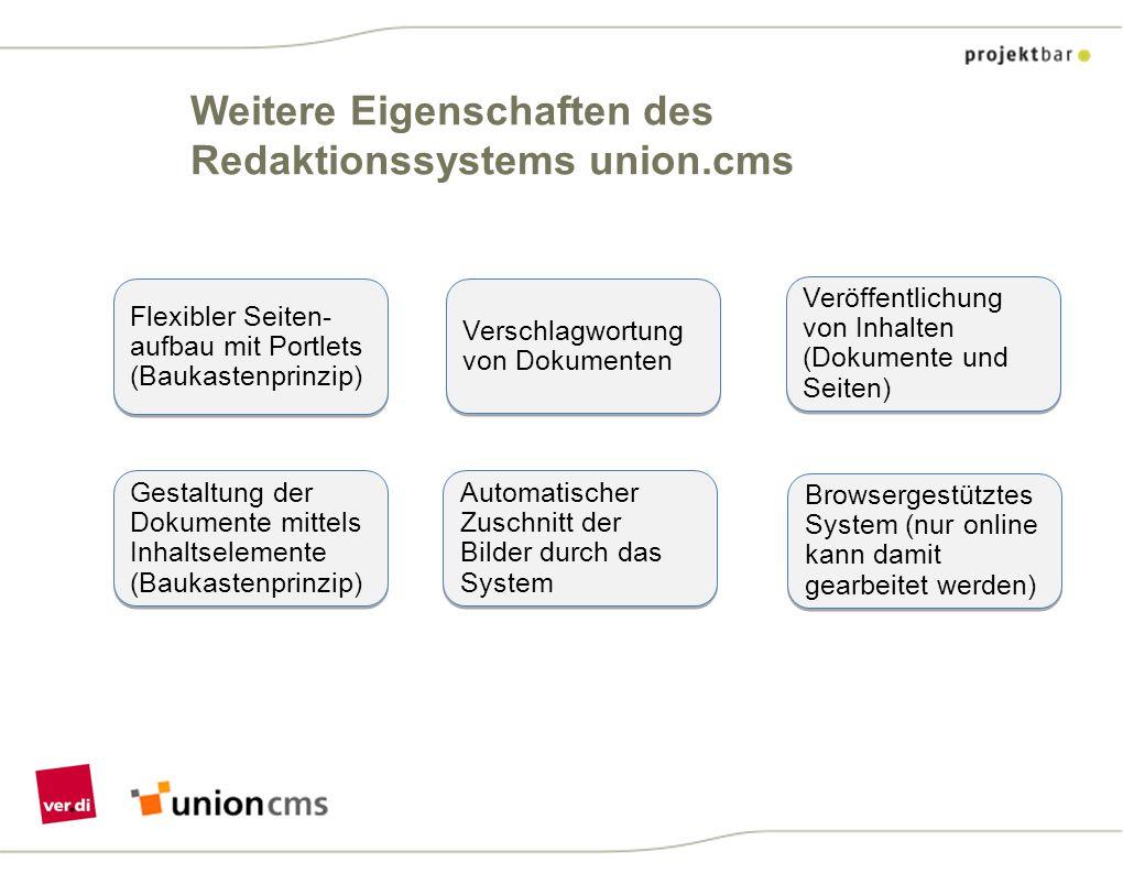 union.cms-Redaktionssystem Zugang zur Schulungsplattform: https://vbn-kurs1.verdi4you.de/composer Benutzernamen: redak1 bis redak20 Kennwort immer: verdi4you13