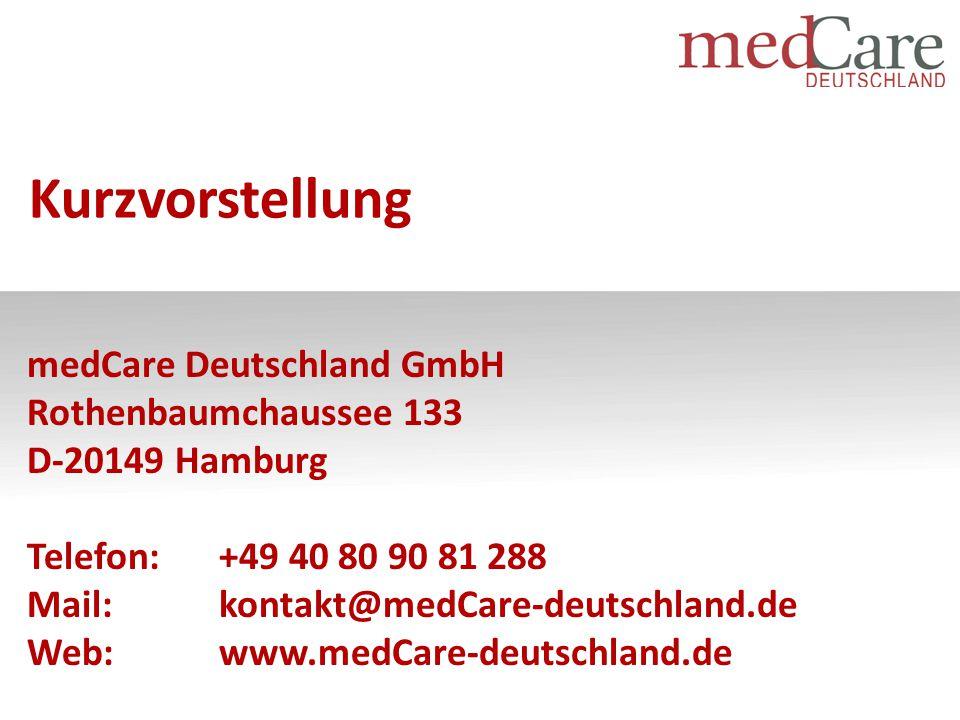 """-2011: Gründung der medCare Schweiz AG mit Firmensitz in Luzern 2014: """"Tochter -Gründung der medCare Deutschland in Hamburg -28 Mitarbeitende über beide Länderplattformen -Vereinigung unterschiedlicher Profile -DRG-Experten, med."""