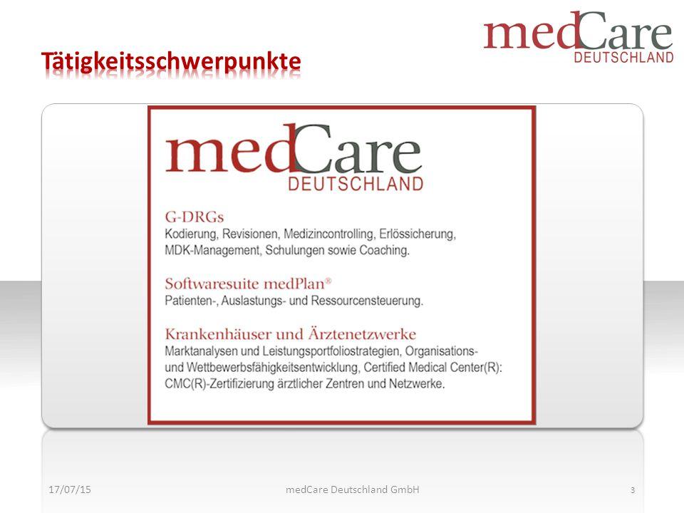 Musskriterien Kannkriterien Musskriterien Kannkriterien Kann- Kriterien 17/07/15 14 medCare Deutschland GmbH
