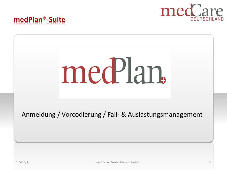 17/07/15 9 medCare Deutschland GmbH