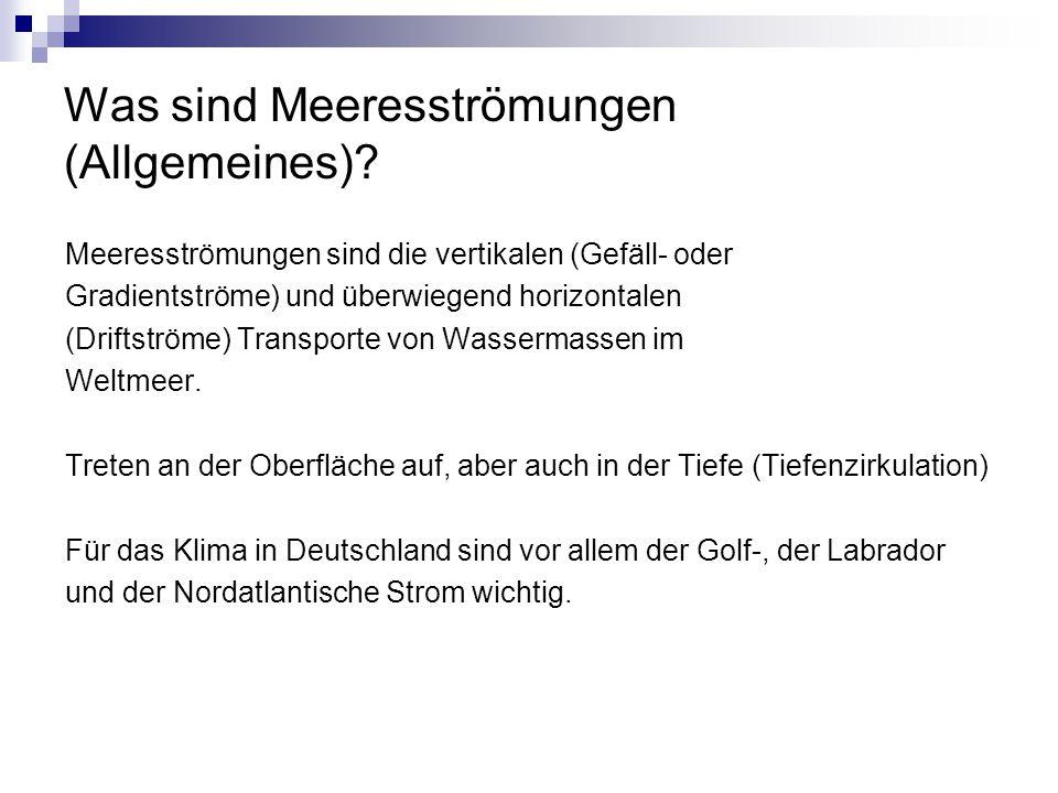 Was sind Meeresströmungen (Allgemeines).