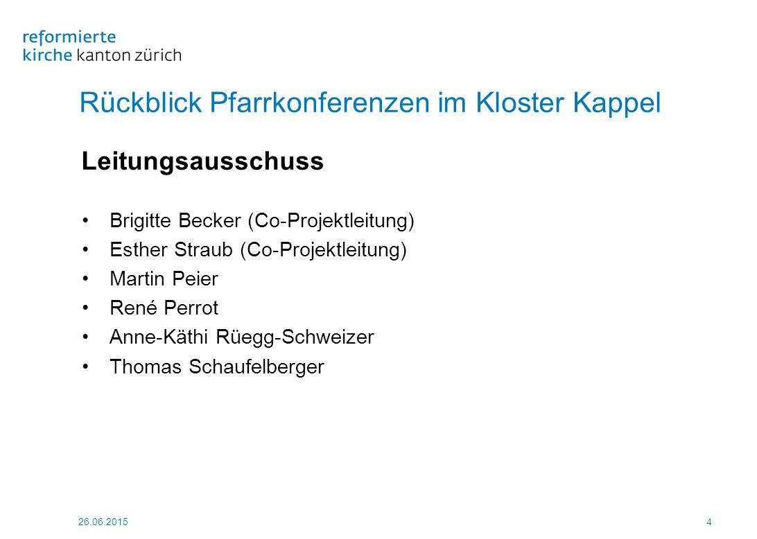 26.06.20155 Rückblick Pfarrkonferenzen im Kloster Kappel 1 Seelsorge vom 6./7.