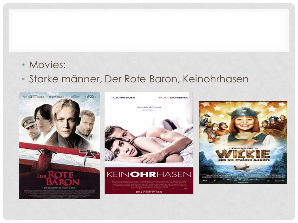Movies: Starke männer, Der Rote Baron, Keinohrhasen