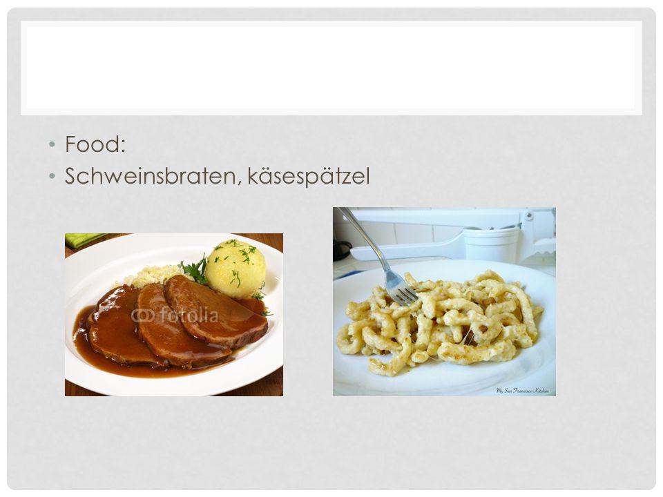 Food: Schweinsbraten, käsespätzel