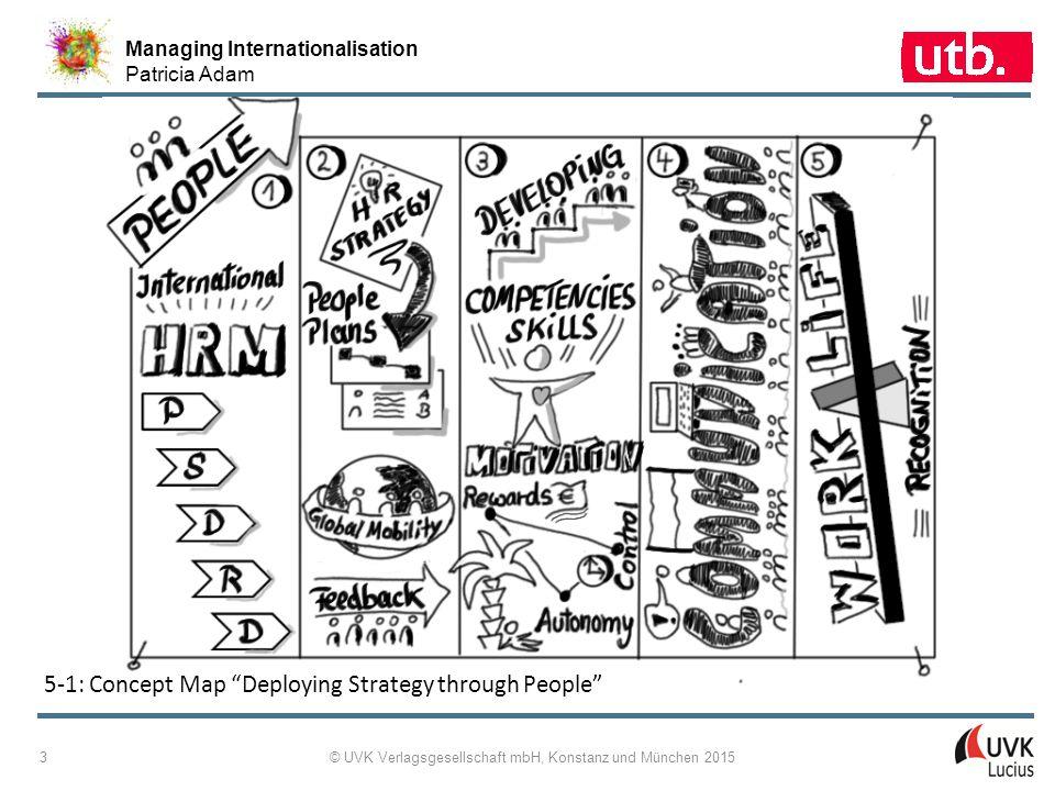 """Managing Internationalisation Patricia Adam © UVK Verlagsgesellschaft mbH, Konstanz und München 2015 3 5-1: Concept Map """"Deploying Strategy through Pe"""