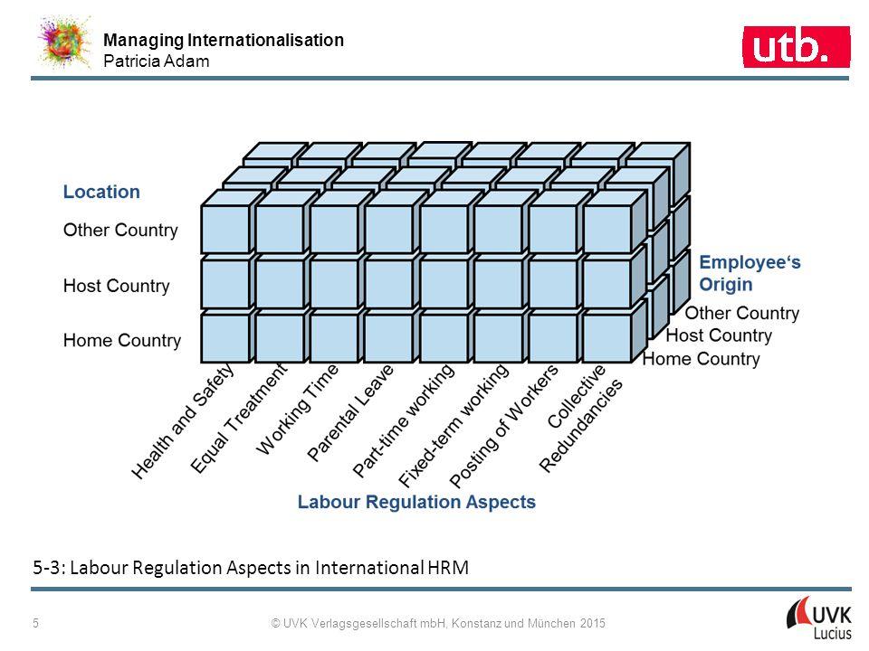 Managing Internationalisation Patricia Adam © UVK Verlagsgesellschaft mbH, Konstanz und München 2015 5 5 ‑ 3: Labour Regulation Aspects in Internation