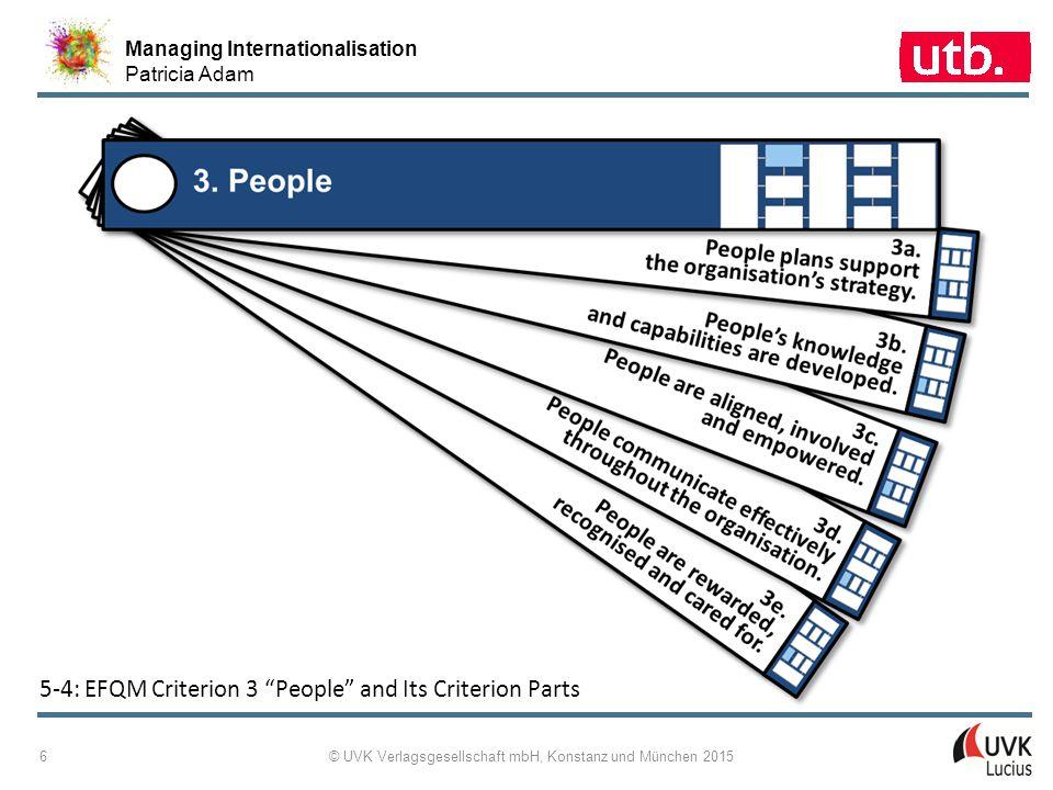 """Managing Internationalisation Patricia Adam © UVK Verlagsgesellschaft mbH, Konstanz und München 2015 6 5 ‑ 4: EFQM Criterion 3 """"People"""" and Its Criter"""