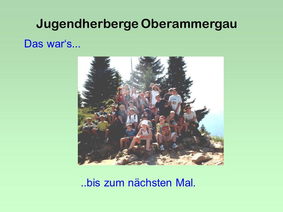 Jugendherberge Oberammergau 2 alte Herrn warn auch dabei..aber auch 2 junge Mäuse !